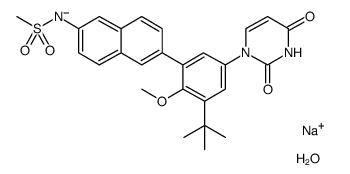 Dasabuvir sodium monohydrate Chemical Structure