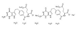 Pemetrexed disodium hydrate Chemical Structure