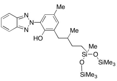 Drometrizole Trisiloxane Chemical Structure