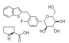 Ipragliflozin L-proline 结构式