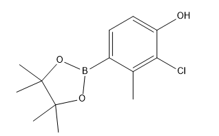 2-chloro-3-methyl-4-(4,4,5,5-tetramethyl-1,3,2-dioxaborolan-2-yl)phenol Chemical Structure