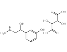 (-)-Phenylephrine hydrogentartrate Chemical Structure
