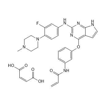 Avitinib maleate Chemical Structure