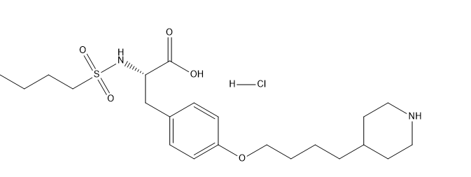 Tirofiban hydrochloride Chemical Structure