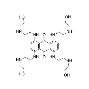 1,4,5,8-Tetrakis[[2-[(2-hydroxyethyl)amino]ethyl]amino]-9,10-anthracenedione Chemical Structure