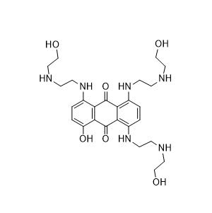 1-Hydroxy-4,5,8-tris[[2-[(2-hydroxyethyl)amino]ethyl]amino]-9,10-anthracenedione Chemical Structure