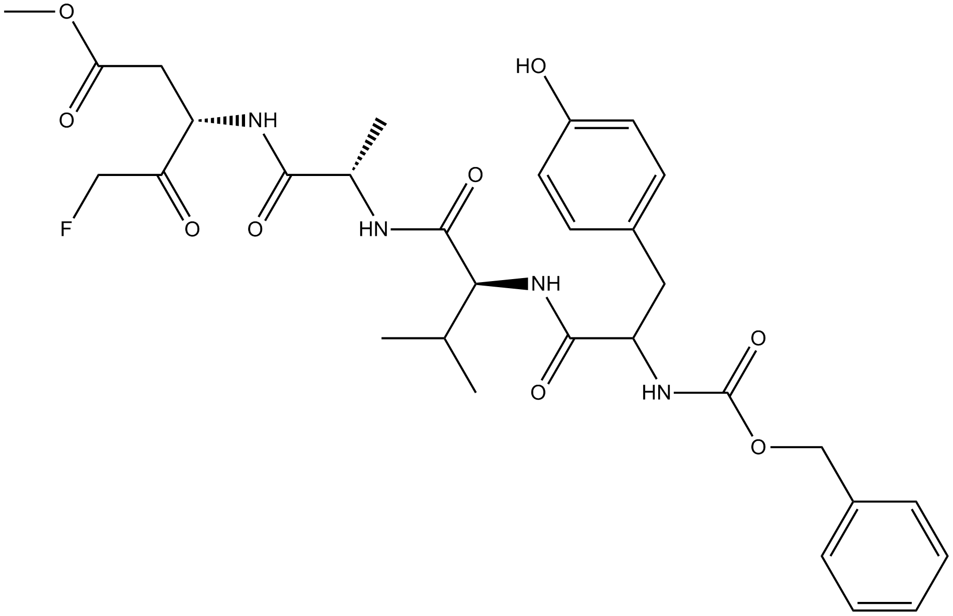 Z-YVAD-FMK Chemical Structure