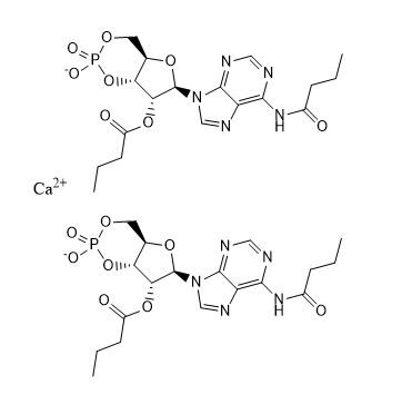 Dibutyryl adenosine cyclophosphate calcium Chemical Structure