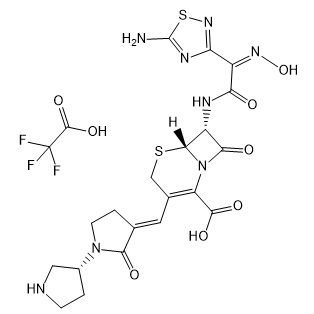 Ceftobiprole trifluoroacetate 结构式