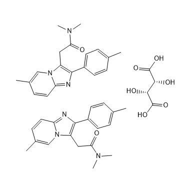 Zolpidem tartrate Chemical Structure