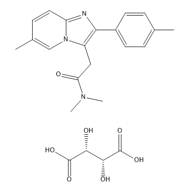 Zolpidem hemitartrate Chemical Structure
