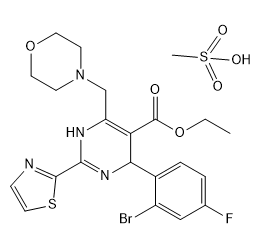 甲磺酸莫非赛定 Chemical Structure