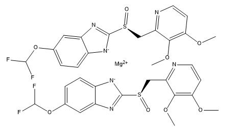 (R)-(+)-Pantoprazole magnesium salt Chemical Structure