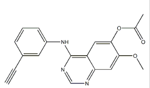 4-((3-ethynylphenyl)amino)-7-methoxyquinazolin-6-yl acetate Chemical Structure