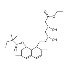 Simvastatin Hydroxy Acid Ethyl Ester Chemical Structure