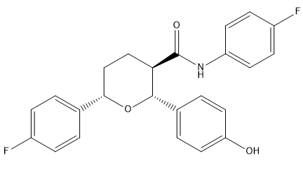 Ezetimibe Tetrahydropyran Impurity Chemical Structure