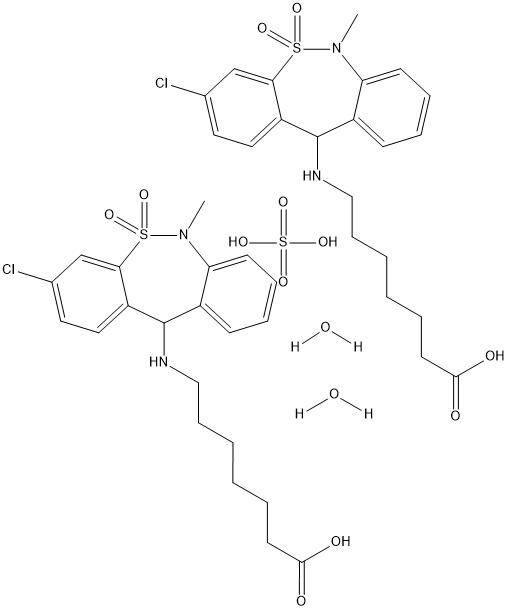 Tianeptine hemisulfate monohydrate Chemical Structure