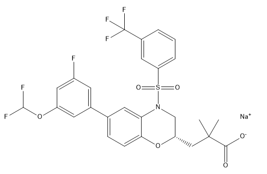 Cintirorgon sodium Chemical Structure