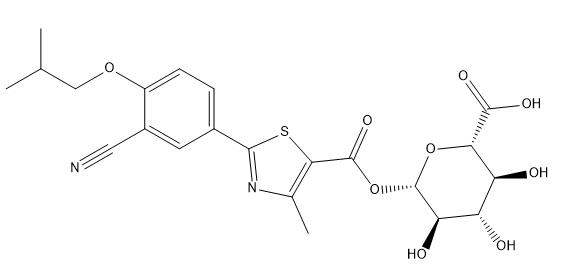 Febuxostat Acyl-β-D-glucuronide Chemical Structure