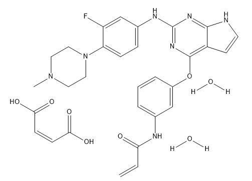 Avitinib maleate Chemical Structure
