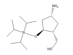 ((1R,2S,4R)-4-amino-2-((triisopropylsilyl)oxy)cyclopentyl)methanol Chemical Structure