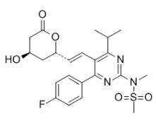 瑞舒伐他汀内酯 结构式