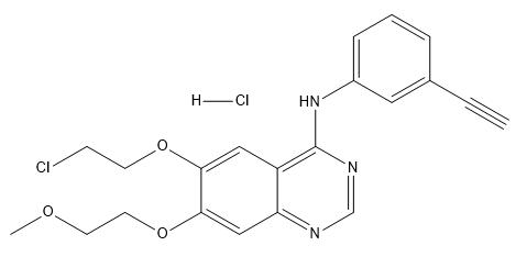 6-O-Desmethoxyethyl-6-O-chloroethyl Erlotinib Hydrochloride Chemical Structure