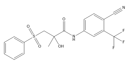 Desfluoro Bicalutamide Chemical Structure