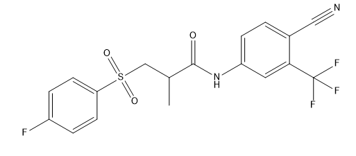 Deshydroxy Bicalutamide Chemical Structure