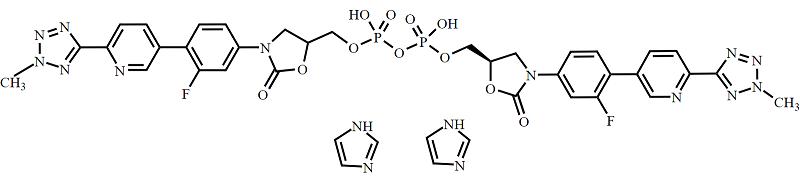 Tedizolid Impurity 8 Imidazolium Salt Chemical Structure
