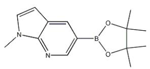 1-Methyl-5-(4,4,5,5-tetramethyl-1,3,2-dioxaborolan-2-YL)-1H-pyrrolo[2,3-B]pyridine Chemical Structure