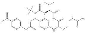 Boc-Val-Cit-PAB-PNP Chemical Structure