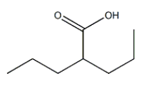 Valproic acid Chemical Structure