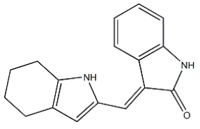 3-(4,5,6,7-Tetrahydro-1H-indol-2-ylmethylidene)-1H-indol-2-one Chemical Structure