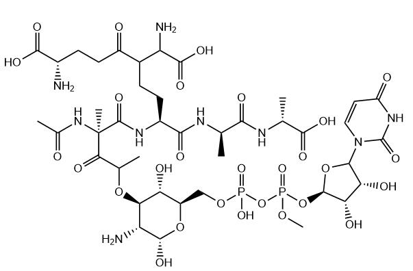 Udp-N-acetylmuramic acid pentapeptide Chemical Structure