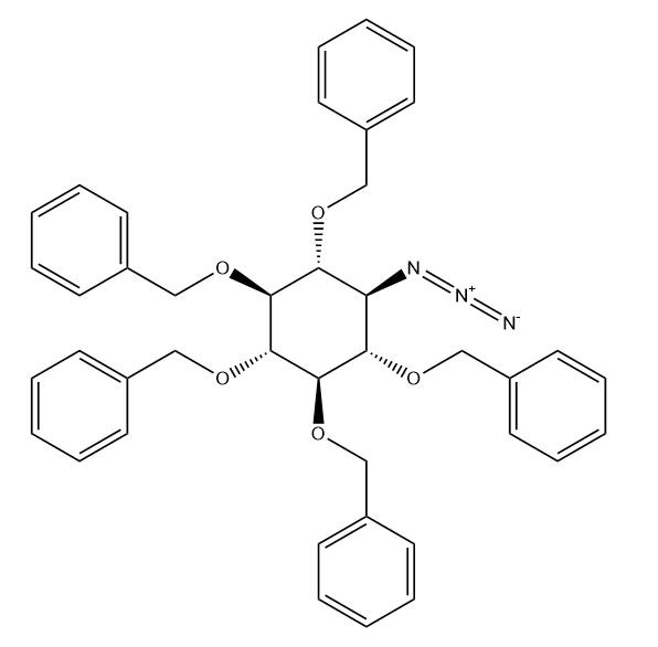 D-scyllo-Inositol, 1-azido-1-deoxy-2,3,4,5,6-pentakis-O-(phenylmethyl)- Chemical Structure