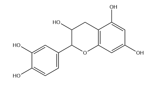(+)-Catechin Chemical Structure