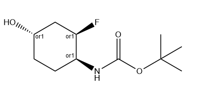 tert-Butyl ((1S,2R,4S)-rel-2-fluoro-4-hydroxycyclohexyl)carbamate Chemical Structure
