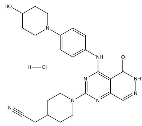 Gusacitinib hydrochloride Chemical Structure