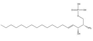 Sphingosine 1-phosphate Chemical Structure