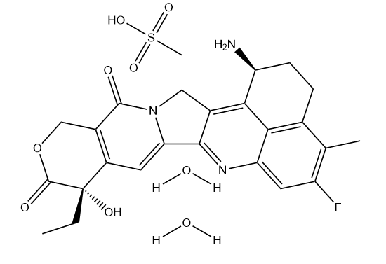 Exatecan mesylate dihydrate Chemical Structure
