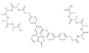(Z-Ala-Ala-Ala-Ala)2Rhodamine110 Chemical Structure