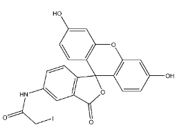 5-(Iodoacetamido)fluorescein Chemical Structure