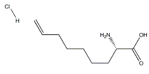 (2S)-2-Amino-8-nonenoic acid HCl Chemical Structure