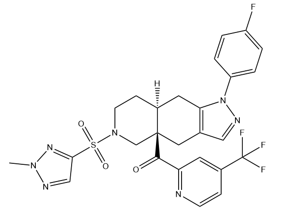 Exicorilant Chemical Structure