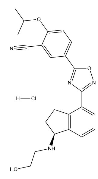 Ozanimod hydrochloride Chemical Structure