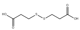3,3'-Dithiodipropionic acid Chemical Structure