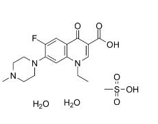 Pefloxacin mesylate dihydrate Chemical Structure