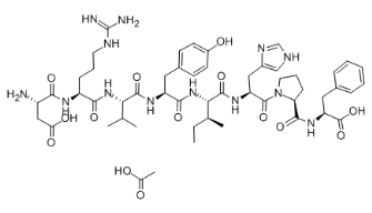 Angiotensin II human acetate Chemical Structure