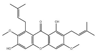 Beta-mangostin Chemical Structure